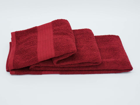 90x150cm BATH SHEET BURGANDY