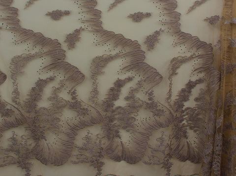 145cm 3TONE EMBROIDED TULLE