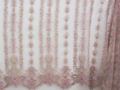145cm EMBROIDED BRIDAL TULLE