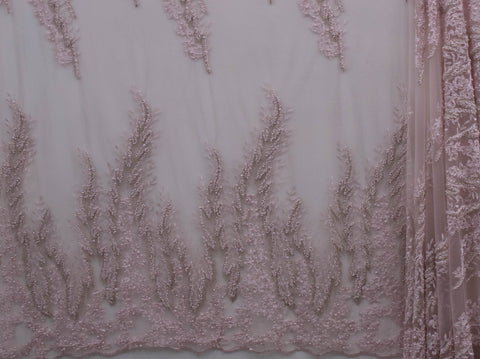 130cm EMILIA EMBROIDERED PEARL TULLE