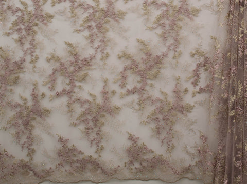 130cm WINDSY EMBROIDERED PEARL TULLE