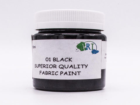 100ml FABRIC PAINT BLACK