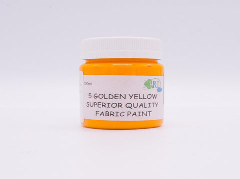 100ml FABRIC PAINT YELLOW