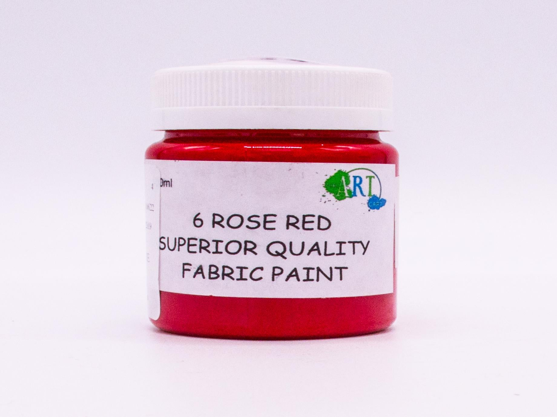 100ml FABRIC PAINT ROSE RED