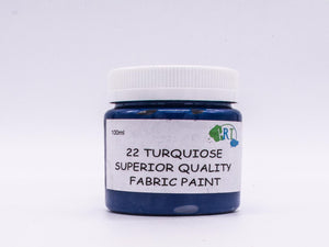 100ml FABRIC PAINT TURQUOISE