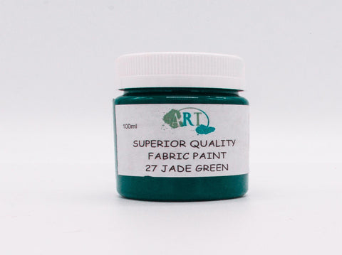 100ml FABRIC PAINT JADE GREEN