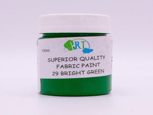 100ml FABRIC PAINT BRIGHT GREEN