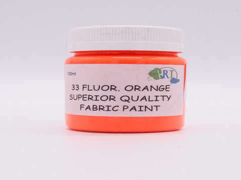 100ml FABRIC PAINT  FLU.ORANGE