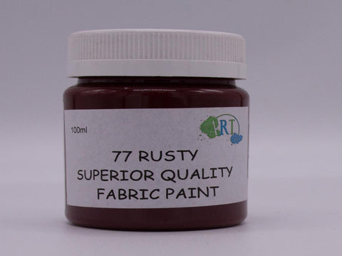 100ml FABRIC PAINT RUSTY