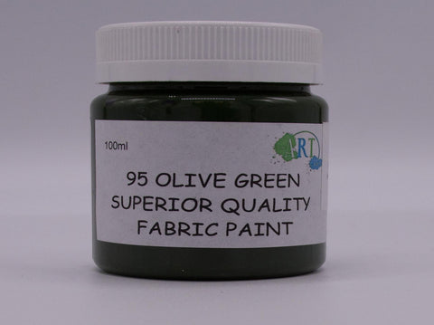 100ml FABRIC PAINT OLIVE GREEN