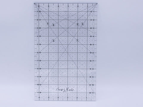 "6.5x12"" QUILTING RULER"