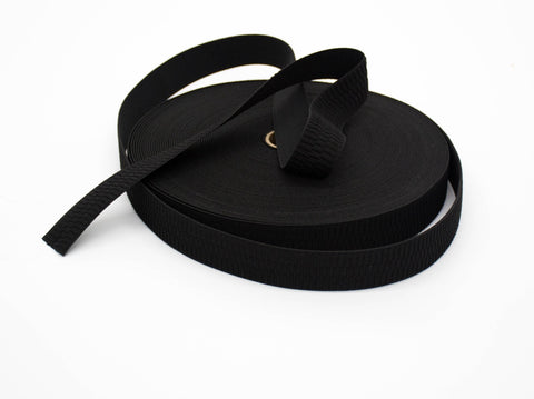 32mm NON CURL ELASTIC BLACK