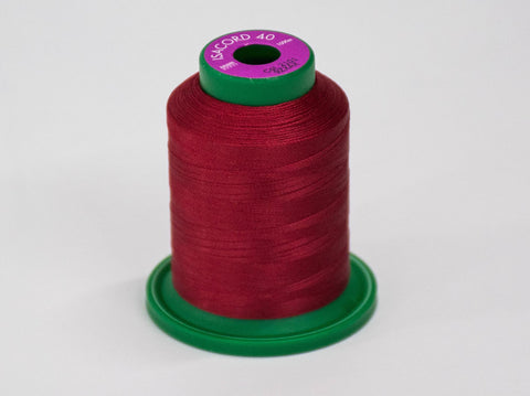 1000m ISACORD EMBROIDERY  THREAD RED