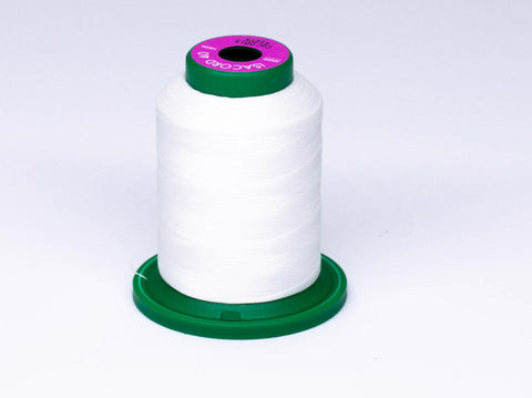 1000m ISACORD EMBROIDERY THREAD WHITE