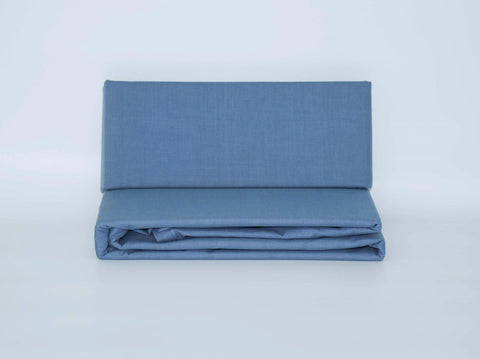 SINGLE 3/4 FLAT SHEET DENIM BLUE