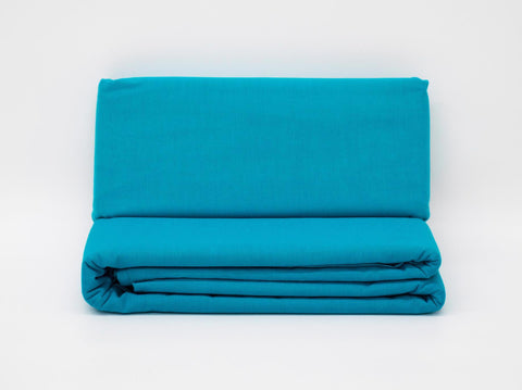 SINGLE 3/4 FLAT SHEET TURQUOISE