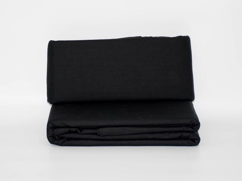 SINGLE 3/4 FLAT SHEET BLACK