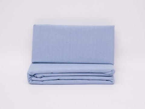 SINGLE 3/4 FLAT SHEET SKY BLUE