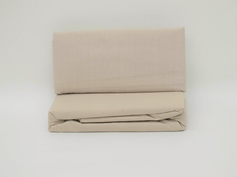 DOUBLE FITTED SHEET TAUPE