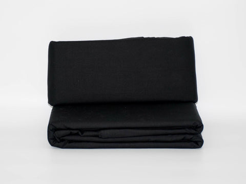 DOUBLE FITTED SHEET BLACK