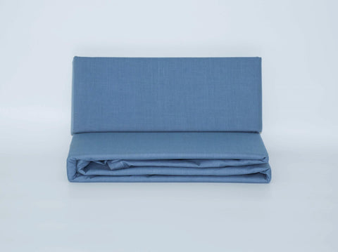 DOUBLE FITTED SHEET DENIM BLUE