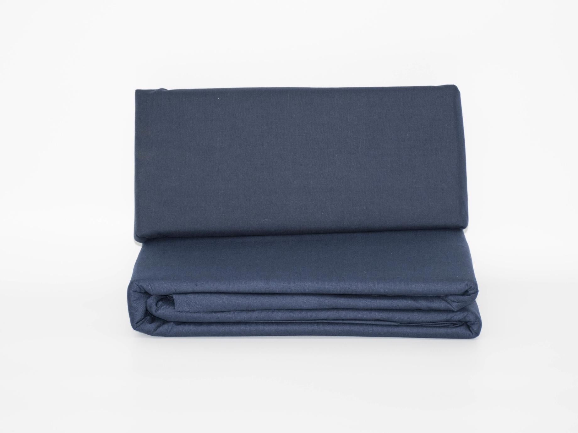 DOUBLE FITTED SHEET NAVY