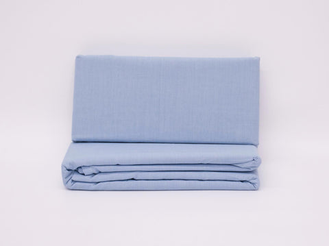 DOUBLE FITTED SHEET SKY BLUE