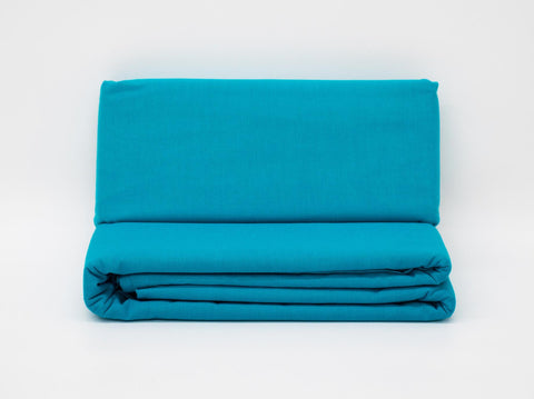 DOUBLE FITTED SHEET TURQUOISE