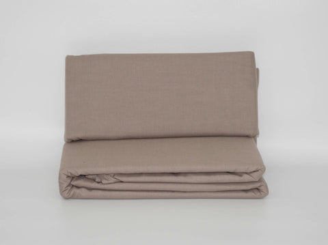 QUEEN FITTED SHEET PEBBLE