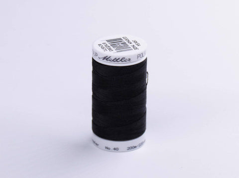 200m METTLER POLY  SHEEN COTTON BLACK