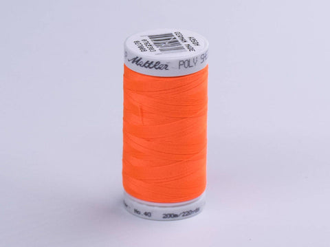 200m METTLER POLY  SHEEN COTTON ORANGE
