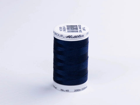 200m METTLER POLY  SHEEN COTTON NAVY
