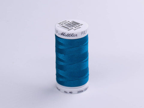 200m METTLER POLY  SHEEN COTTON BLUE