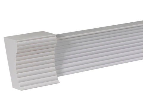 2's MANHATTAN RIBBED FINIAL WHITE