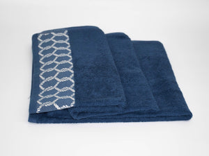 70x140cm CHAIN BATH TOWEL STEEL BLUE