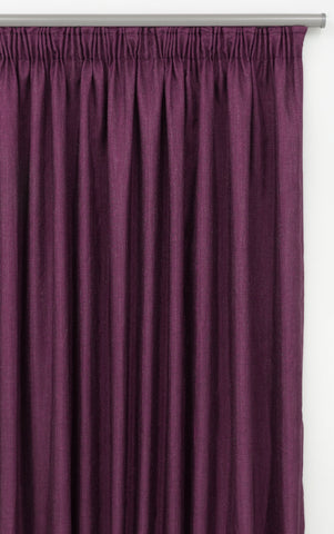 230x220cm LINEN LOOK LINED TAPED CURTAIN