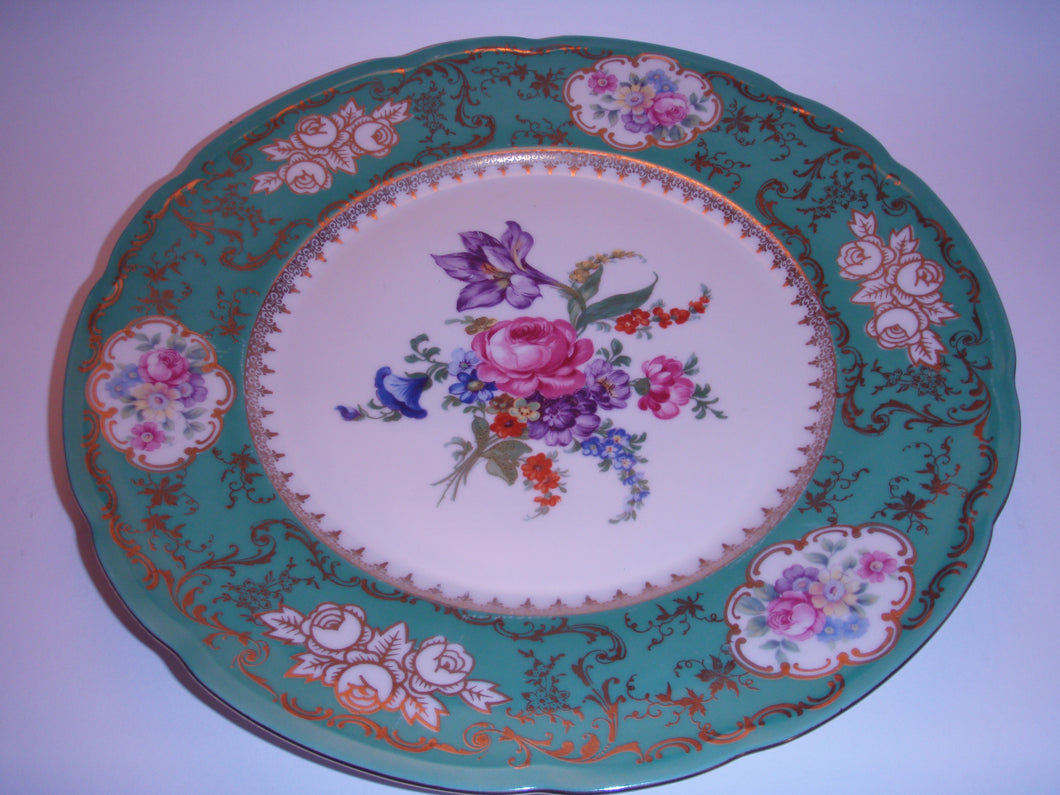 Czechoslvia Dinner Plate with Flowers
