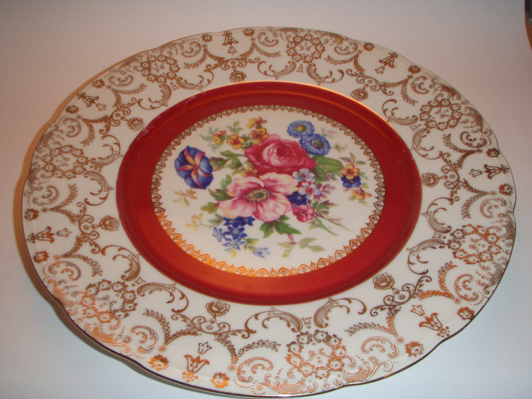 Czechoslovia Dinner Plate with Flowers