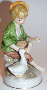 Figurine – Boy with Goose – Porcelain