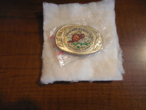 Fur Rendezvous Anchorage, Alaska 1986 Beaver Child Belt Buckle