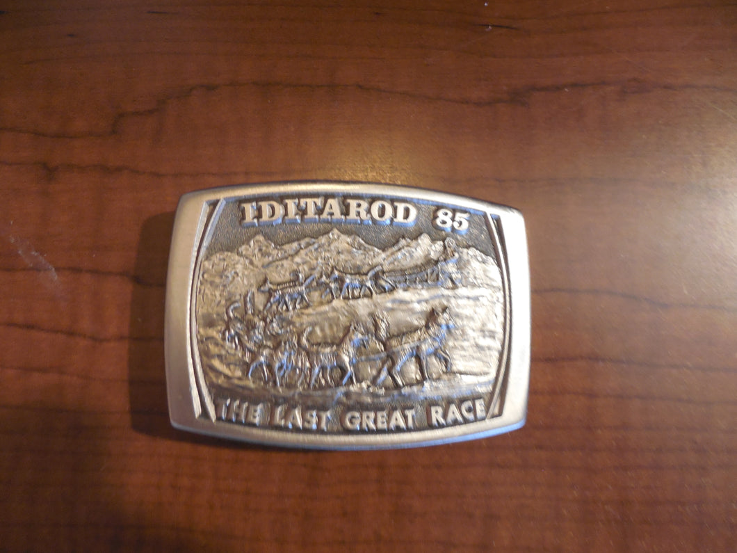 Iditarod 1985 Belt Buckle