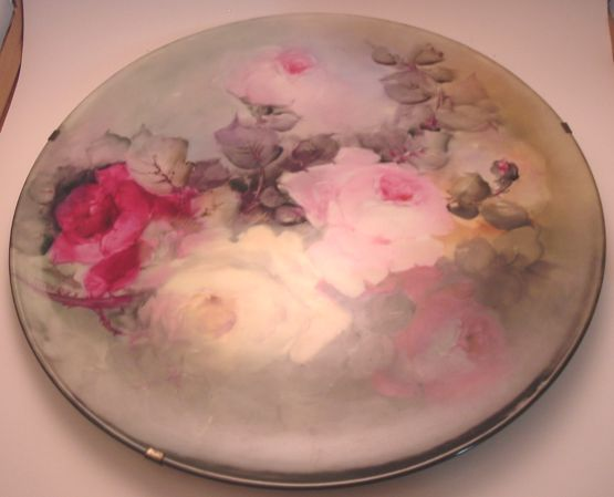Limoges Ceramic Hand Painted Large Plate