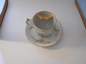 Mustache Cup with Matching Saucer Viletta's Arts