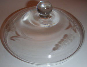 Pattern Glass Dish with Lid on Pedestal