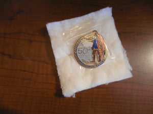Rur Rendezvous Enamel Anchorage, Alaska 1985 50th Ann Collector Pin