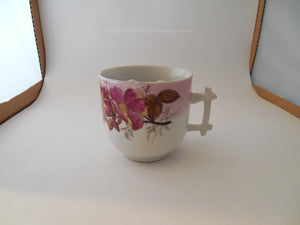 Vintage Mustache Cup with Unsual Handle