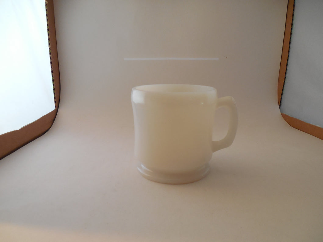 Vintage Plain Heavy White Milk Glass Shaving Mug