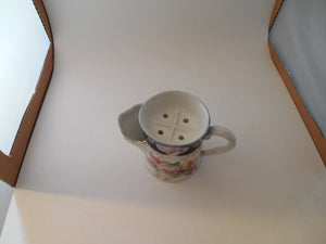 Vintage Scuttle Shaving Mug with Four Holes