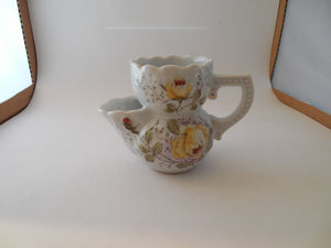 Vintage Scuttle Shaving Mug with Three Holes