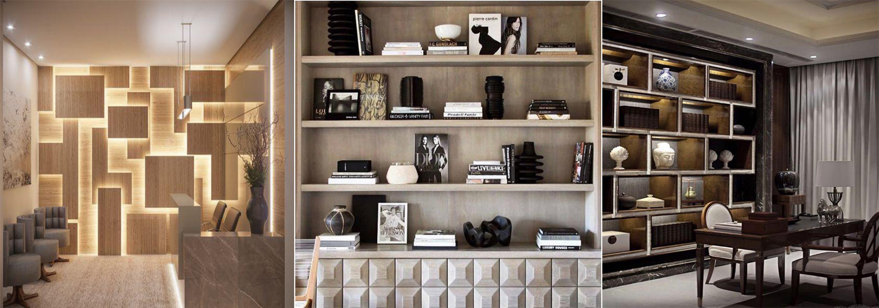 Angie Kripalani Design's Storage Spaces to Highlight Your Wall Elevation With Beautiful Shelves In Modern and Fusion Design.